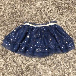 Baby Starters Blue And Gold Stars Skirt Size 6m